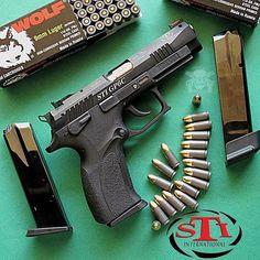 Manufacturer: STI Mod. GP6 C Type - Tipo: Pistol Caliber - Calibre: 9 mm Capacity - Capacidade: 17 Rds Barrel length - Comp.Cano: 4.25 Weight - Peso: 26.1...