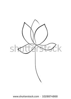 Image result for simple line drawing water lily
