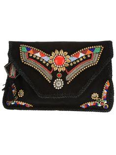 ANTIK BATIK embellished clutch: