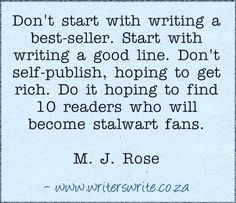 Quotable - M.J. Rose - Writers Write Creative Blog