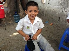 Precious. This student was thrilled to receive a new pair of shoes.   #toms #guatemala #oneforone #buffalopeak