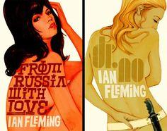 James Bond book covers.