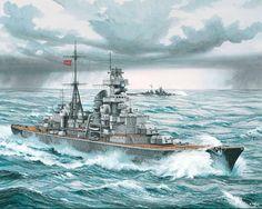 German Battleship Prinz Eugene