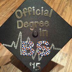 Lou0027s graduation cap! #BS #BachelorofScience #BSDegree #kinesmajor #UTSA #roadrunners & 418 best Graduation Cap Decorations images on Pinterest | Graduation ...