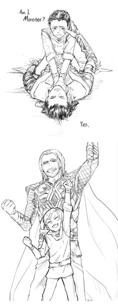 Did I disappoint you ? Are you proud of me?|| Thor & Loki || Cr: 浮蝠