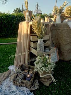 Follow Elena's fairytale: Γάμος αγροτικός με στάχυα, σανό, λινάτσα και κεριά!!!