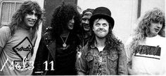 Dave Mustaine, Axl Rose, Slash, Lars and Jeff Young