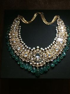 Kundan necklace by Sagar Jewellers