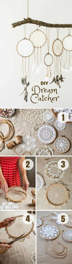 Check out this easy idea on how to make a #DIY Dream Catcher for #bedroom #homedecor on a #budget #crafts Industry Standard Design