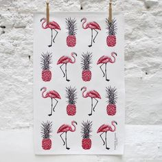 Unique and quirky 100% Cotton screen printed Tea Towel.  A fun and fabulous design, lovingly designed and made here in the UK from 100% Cotton.