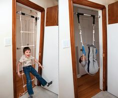 Doorway Jungle Gym  - Although, I dont think I would purchase this for my children, its still kinda cool...lol