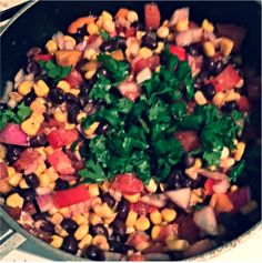 southwest black bean and corn salad. yum!!!