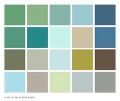 little sunny studio color palette 1950s - Santa Fe Colors