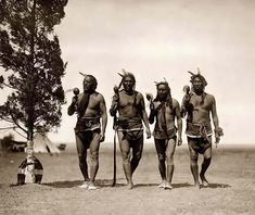 Here for your enjoyment is an absorbing photograph of Night Medicine Men. It was created in 1908 by Edward S. Curtis.    The photo illustrates a Arikara medicine ceremony with four night men dancing.    We have compiled this collection of photographs mainly to serve as a valuable educational resource. Contact curator@old-picture.com.    Image ID# 6ADC9DB4
