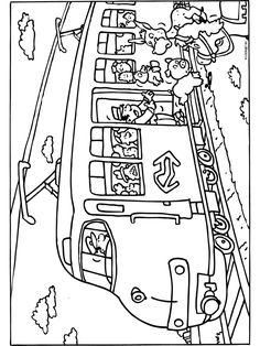 Dieren in de trein Disney Coloring Pages, Colouring Pages, Coloring Pages For Kids, Pre School, Worksheets, Transportation, Kindergarten, Teaching, Education