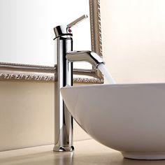 Contemporary Chrome One Hole Single Handle Vessel Bathroom Sink Faucet – USD $ 49.49