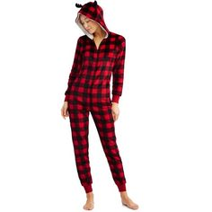 Family PJs - Family PJs Holiday Family Sleep Buffalo Plaid Union Suit Pajama  (Women s and Women s Plus) - Walmart.com cc445cf5b