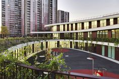 Tiered Green Roofs Crown the Landmark Bobigny School in France