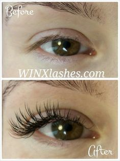 Perfect cat eye lash extensions
