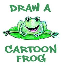 how to draw a frog with instructions