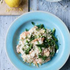 Smoked Salmon and Lemon Risotto with Asparagus#.VIWaklJF0dU#.VIWaklJF0dU