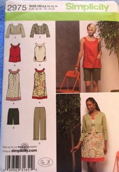Simplicity Pattern 2975 Misses Capri Pants Dress Jacket Sizes 6-14 Uncut #simplicity
