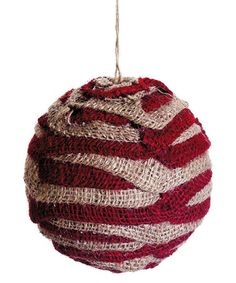 "Red Decorative Balls 4"" Woven Jute Ball  Decorative Balls  Pinterest  Burlap And Twine"