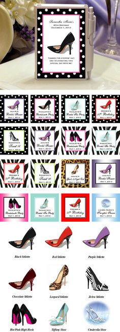 Hi-Heel gifts...  Google Image Result for http://personalizedfavors.lmk-gifts.com/Store/media/Stiletto-Shoe-Mini-Notebooks-Details-400.jpg
