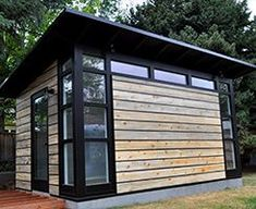 Design and build your own Studio Shed with our 3D Configurator tool. Our modern, prefab sheds are perfect for your backyard studio or custom home office.  ~ Great pin! For Oahu architectural design visit http://ownerbuiltdesign.com