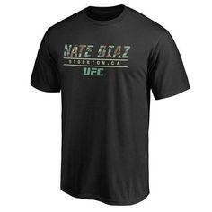 Men s Nate Diaz Black UFC Siege T-Shirt Paige Vanzant Ufc af38581d51e