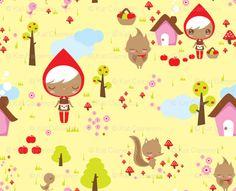 Little Red Riding Hood fabric by teamkitten via spoonflower.com