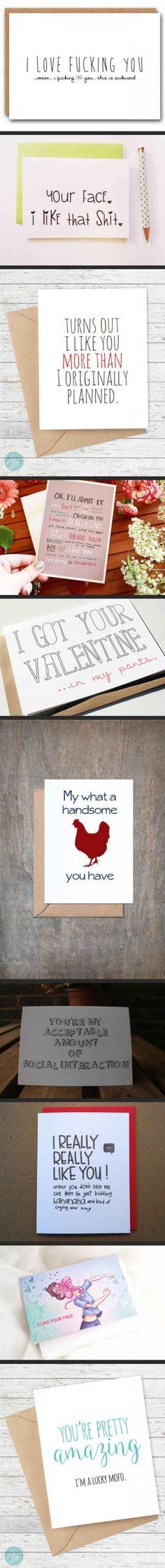 Awkward, but awesome greeting cards for your significant other.