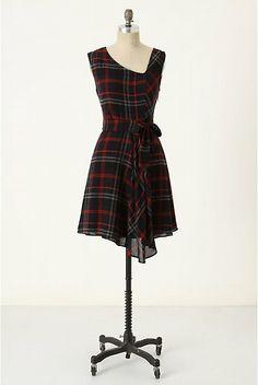 plaid dress | plaid dress anthropology