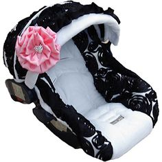 Cutest carseat cover ever! This site has really cute baby stuff...