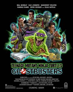With new TMNT & Ghosterbusters movies on the way, leave a 🐢 down below if you would love to see a live action crossover happen! The Real Ghostbusters, Ghostbusters Logo, Ninja Turtles Art, Teenage Mutant Ninja Turtles, Elias Koteas, Ernie Hudson, Ghost Busters, Fanart, 80 Cartoons