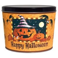 Curt's Happy Hallowen tin | Happy Halloween Tin - 2 Gallon, found one like this at the Thrift store for .59 cents.