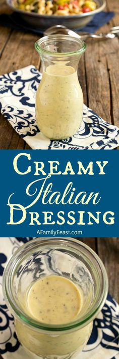 This homemade Creamy Italian Dressing couldn't be any easier to make! Made with ingredients you probably have in your kitchen.
