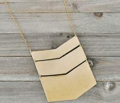 Chevron Golden Necklace