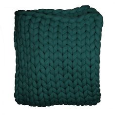 Your Lifestyle by Donna Sharp Chunky Knit Throw - Overstock - 21529411 Chunky Knitting Patterns, Arm Knitting, Shabby Chic Material, Most Comfortable Sheets, Chunky Knit Throw, Visual Texture, Soft And Gentle, Knitted Blankets, Throw Blankets