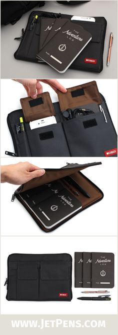 The JetPens Traveler's Set features useful and convenient items for any traveler. Carry your essentials, including a Pilot Down Force Balpoint Pen, a Pentel Slicci Techo Mini Pen, and Word Notebooks, in the Lihit Lab Teffa Bag in Bag!