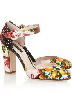 Heel measures approximately 90mm/ 3.5 inches Multicolored brocade Buckle-fastening ankle strap