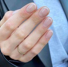 Round Nails, Oval Nails, Cute Nails, Pretty Nails, Hair And Nails, My Nails, Nail Manicure, Nail Polish, Simple Gel Nails
