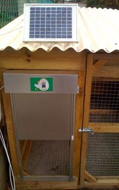 solar powered automatic coop door.