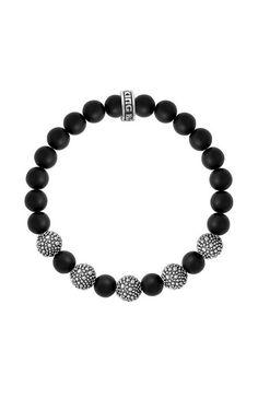 8mm Onyx Bead Bracelet with Five Stingray Beads