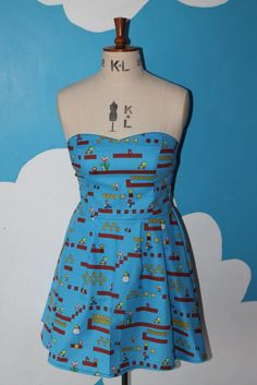 Image of super mario game sweet heart dress
