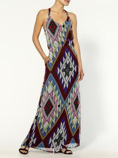 easy printed summer dress...with pockets!