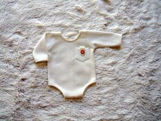 Newborn Photography Prop Long Sleeves Off White Romper-Photography Prop Outfits-Newborn Boys Clothing- Baby Outfits-Baby Boy Rompers