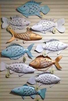 Metal Fish Wall Art By The Iron Made In Usa Http