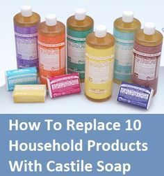 How to replace products with Castile Soap.Did you know it comes from the region of Castile in Espana? Natural Living Ideas on FB. Homemade Cleaning Products, Natural Cleaning Products, Household Products, Natural Products, Natural Cleaning Recipes, Household Items, Natural Cleaning Solutions, Cleaners Homemade, Diy Cleaners