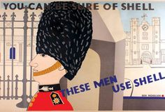 1930s Shell poster by Ben Nicholson